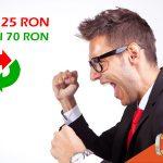 Promotie exclusiva prin betmag.ro: depui 25 RON, pariezi 70 RON!