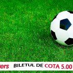 Biletul de cota 5.00 WINMASTERS | Cote excelente la Steaua si Barcelona