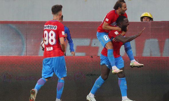 Bucurie gol FCSB, meci cu Hajduk
