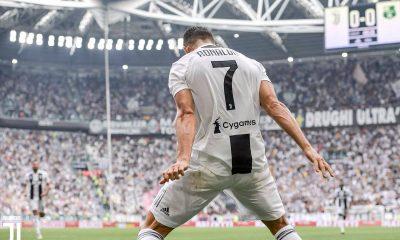 Cristiano Ronaldo se bucură după gol.