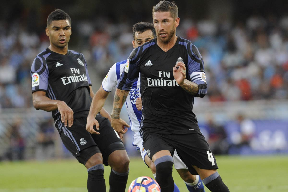 Real Madrid vs Sociedad, Casemiro, Ramos