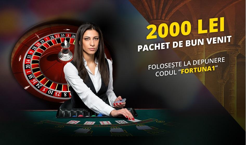 Casino, Live Casino și Vegas la Fortuna. 2.000 RON bonus