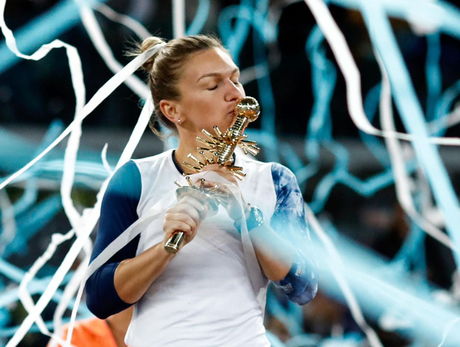 Simona Halep - Kristina Mladenovic live video Cupa FED