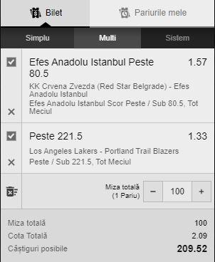 Bilet baschet Euroliga + NBA