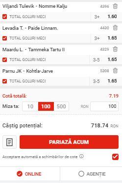 Biletul cu goluri din 31 mai 2020. Facem bani din Estonia