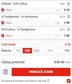 Biletul zilei cu tenis din 23 mai 2020. Surprizele ne aduc profit