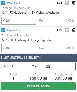 Biletul zilei cu fotbal din 22 mai 2020. Profit însemnat din Bundesliga 2