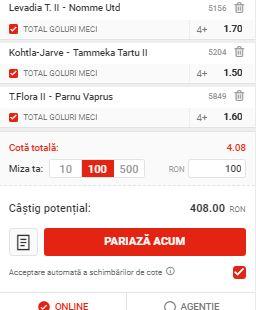 Biletul cu goluri din 4 mai 2020. Cota profitabilă: 4,08