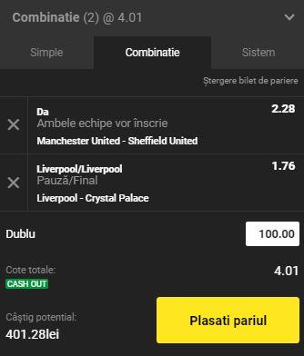 Bilet Premier League din 24 iunie 2020. United şi Liverpool ne aduc profit