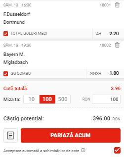 Biletul cu fotbal din Bundesliga, 13 iunie 2020. Facem profit cu Bayern şi Dortmund