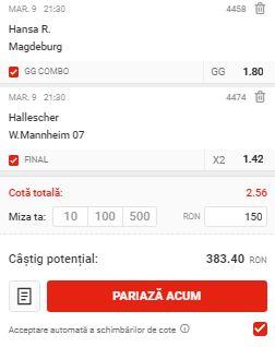 Biletul cu fotbal din Germania, 9 iunie 2020. Două meciuri din Liga 3 pentru profit