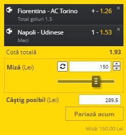 Biletul zilei din 19 iulie 2020. Ne dublăm banii cu două ponturi din Serie A