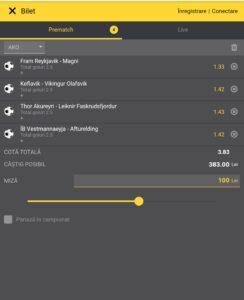 Biletul pe goluri din 19 august 2020. Cotă 3,83 cu 4 ponturi din Islanda