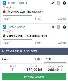 Biletul zilei din baschet, 17 august 2020. Cota profitabilă din NBA: 1,78