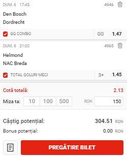 Biletul zilei din 6 septembrie 2020. Profitul vine din Eerste Divisie