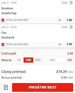 Biletul pe goluri din 5 octombrie 2020. Facem bani din Eerste Divisie