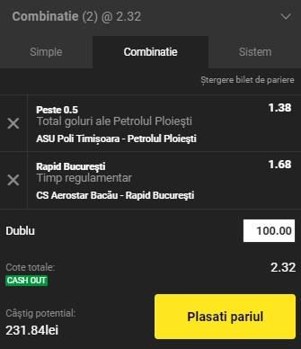 Bilet Liga 2, etapa a 13-a. Facem bani cu Rapid și Petrolul Ploiești