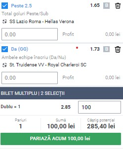 Biletul pe goluri din 12 decembrie 2020. Facem bani cu două ponturi din Serie A și Jupiler League