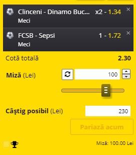 Bilet Liga 1, etapa a 15-a. FCSB și Dinamo ne aduc profit