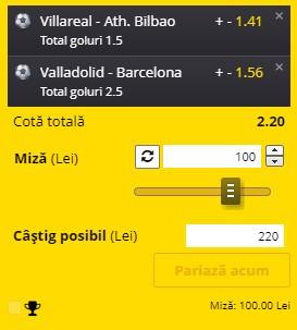 """Biletul pe goluri din 22 decembrie 2020. """"Combo"""" din La Liga pentru profit"""