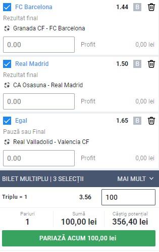 Bilet La Liga din weekend-ul 9-10 ianuarie 2021. Pariu pe Barcelona și Real Madrid