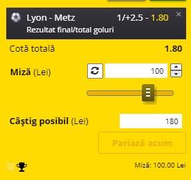 Biletul zilei din 17 ianuarie 2021. Profit din Ligue 1