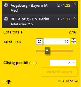 Bilet Bundesliga 20 ianuarie 2021. Două ponturi pentru profit
