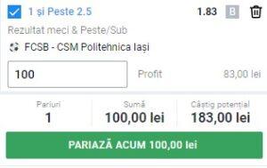 Ponturi pariuri FCSB - Poli Iași, 30 ianuarie 2021. Cota profitabilă: 1,83