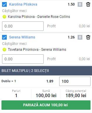 Bilet tenis din 2 februarie 2021. Două ponturi simple pentru profit