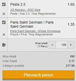 Biletul zilei din 3 februarie 2021. Două ponturi din Ligue 1 pentru profit