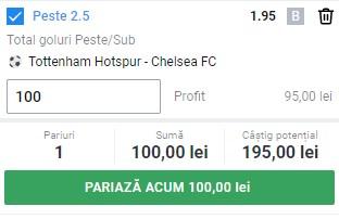 Ponturi pariuri Tottenham - Chelsea, 4 februarie 2021. Cota profitabilă: 1,95