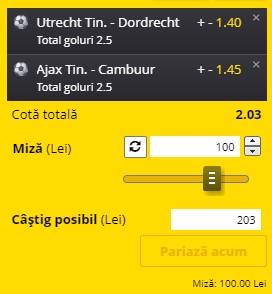 """Biletul pe goluri din 8 februarie 2021. Facem bani cu un """"combo"""" în cotă 2,03 din Eerste Divisie"""