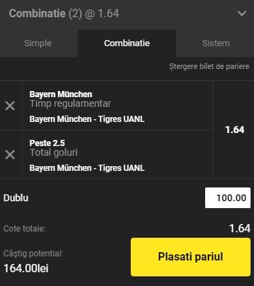 Finala CM a cluburilor 2021. Pariu câștigător la Bayern Munchen - Tigres