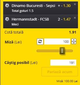 Bilet Liga 1 pentru weekend. Facem bani cu Dinamo și FCSB