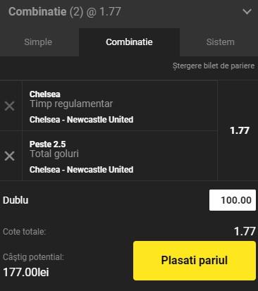 Ponturi pariuri Chelsea - Newcastle, 15 februarie 2021. O super selecție ne aduce profit