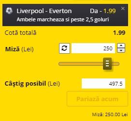 Ponturi pariuri Liverpool - Everton, 20 februarie 2021. Cota profitabilă: 1,99