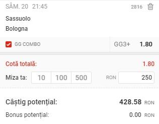Pontul zilei din 20 februarie 2021. Profitul vine din Serie A