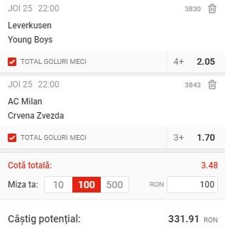 Biletul pe goluri din 25 februarie 2021. Facem bani cu 2 ponturi din Europa League