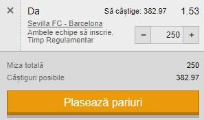 Ponturi pariuri Sevilla - Barcelona, 27 februarie 2021. Selecția câștigătoare e aici