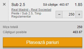 Ponturi pariuri Real Madrid - Sociedad, 1 martie 2021. Cota profitabilă: 1,85