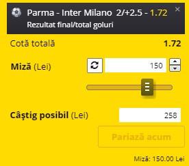 Pontul zilei din 4 martie 2021. Pariem pe Parma - Inter Milano