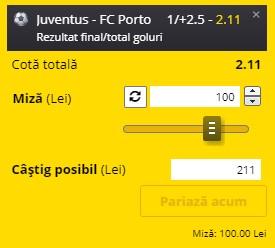 Ponturi pariuri Juventus - Porto, 9 martie 2021. Cota profitabilă: 2,11
