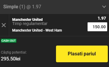 Pontul zilei din 14 martie 2021. Profitul vine de la Manchester United - West Ham