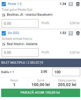 Biletul zilei din 16 martie 2021. Selecțiile pentru profit vin din Liga Campionilor și Cupa Turciei