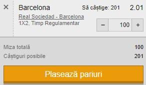 Ponturi pariuri Sociedad - Barcelona, 21 martie 2021. Catalanii sunt favoriți să câștige