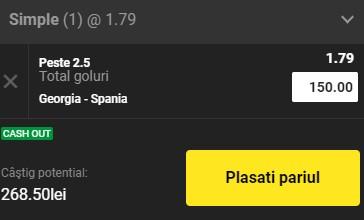 Ponturi pariuri Georgia - Spania, 28 martie 2021. Cota profitabilă: 1,79