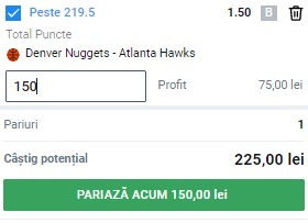Bilet baschet 28 martie 2021. Facem profit din NBA