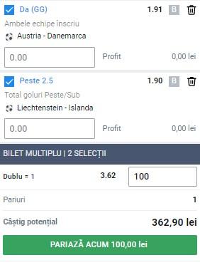 Biletul pe goluri din 31 martie 2021. Pariu în cotă 3,62 din calificările pentru CM 2022