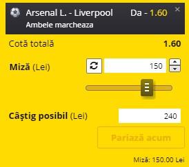 Ponturi pariuri Arsenal - Liverpool, 3 aprilie 2021. Cota profitabilă: 1,60