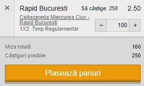 Ponturi pariuri Csikszereda - Rapid, 6 aprilie 2021. Cota profitabilă: 2,50